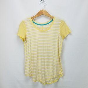 Lululemon Striped Short Sleeve Athletic T-Shirt